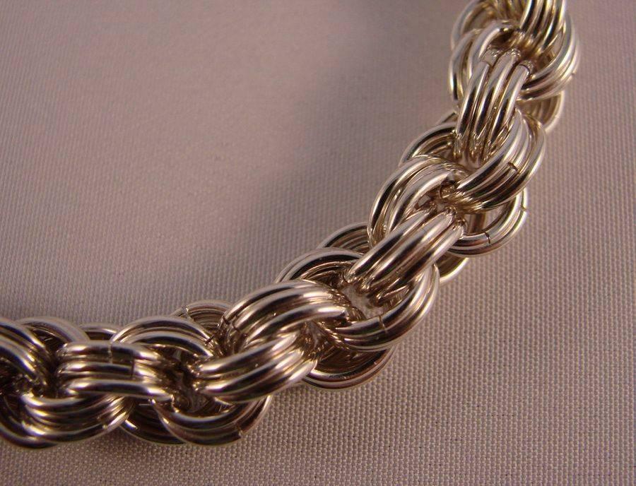 Оригинальное красивое плетение цепи