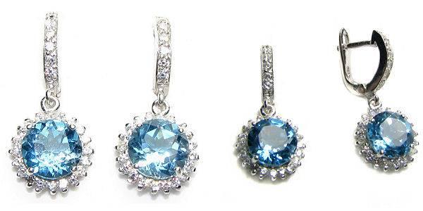 Оригинальные сережки с камнями