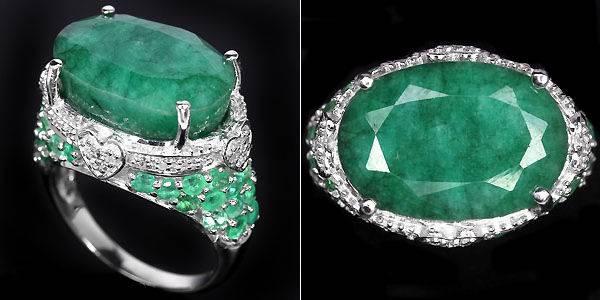 Серебряное кольцо с изумрудом
