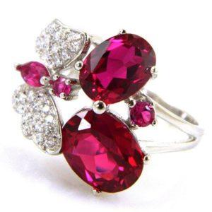 Серебряное кольцо с защитный покрытием из родия