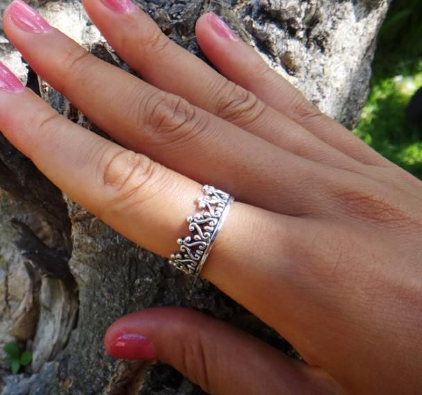Оригинальное кольцо-корона