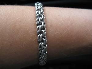 Мужское украшение из серебра