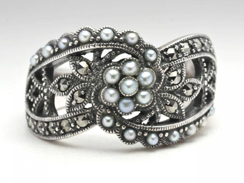 Оригинальное кольцо из серебра