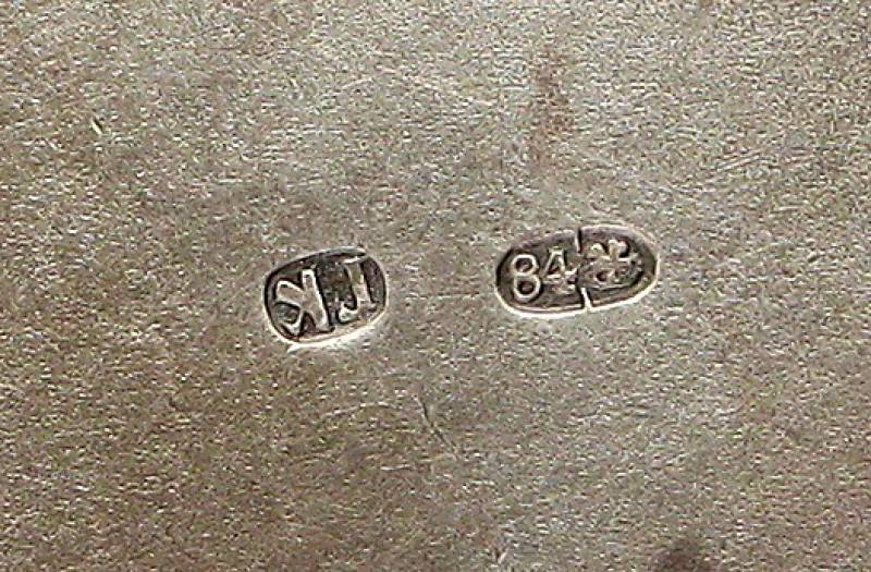 На каждом серебряном изделии проставляется заводская проба