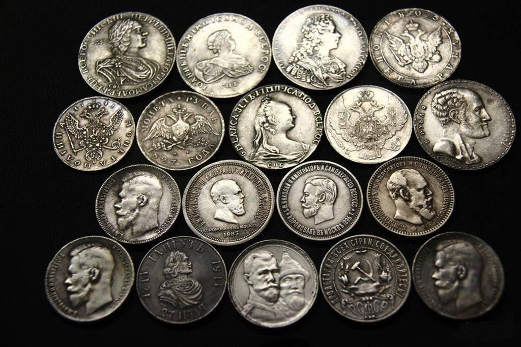 Большая коллекция найденных монет