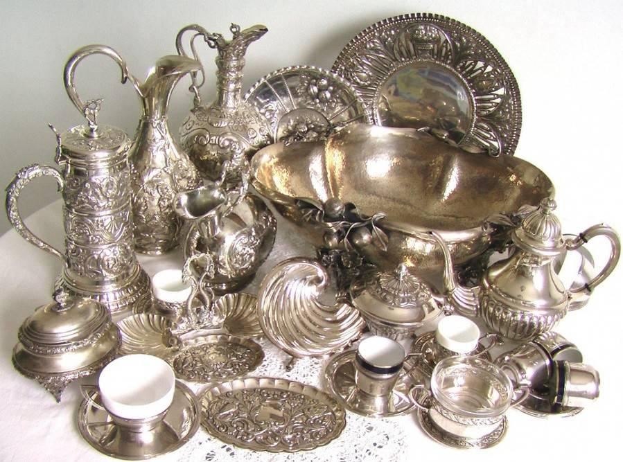 На Руси очень ценилась серебряная посуда