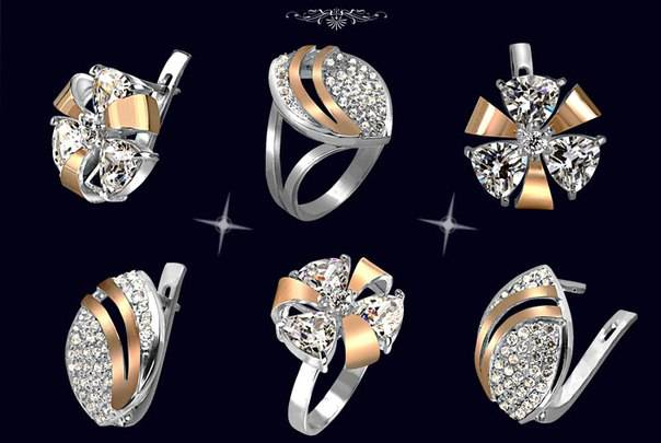 Серебро гармонично сочетается с золотом
